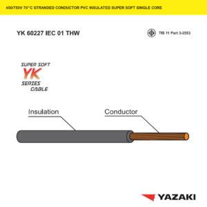 สายไฟ YK-60227-IEC-01-THW