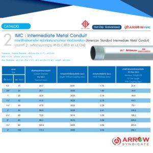 ท่อร้อยสายไฟ Arrow-IMC